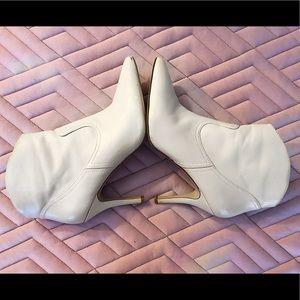 Nine West cream heeled booties